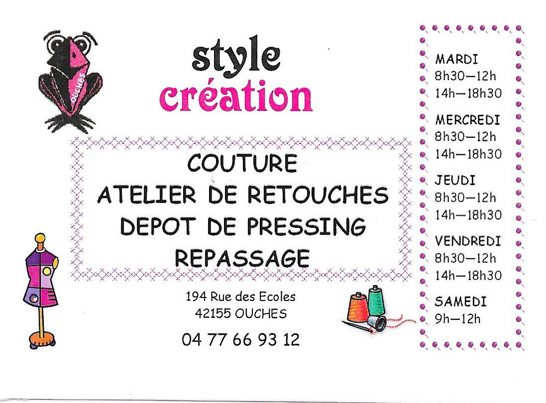 Service De Couture Et Retouche Style Creation Carte